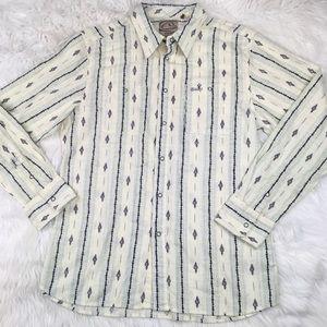 Reef Men's Shirt Button Front Hawaiian Flowers